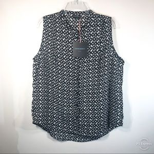 Cynthia Rowley | Black & White Sleeveless Top NWT